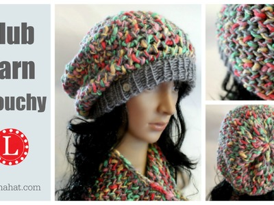 LOOM KNIT HAT - The Slub Yarn Slouchy