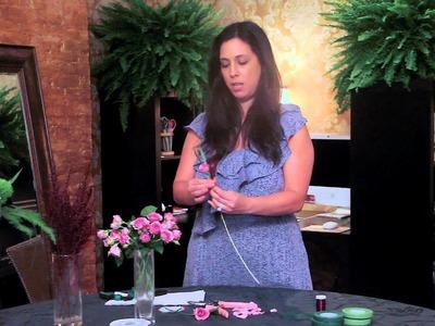Making Rose Boutonnieres : Wedding Decorating