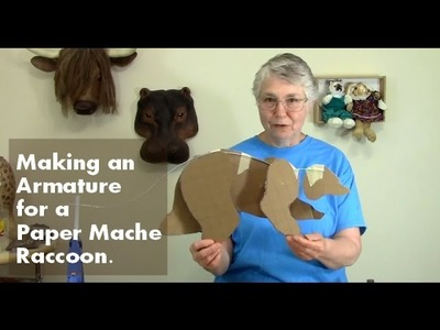 Paper Mache Raccoon Part 1 - Making the Armature
