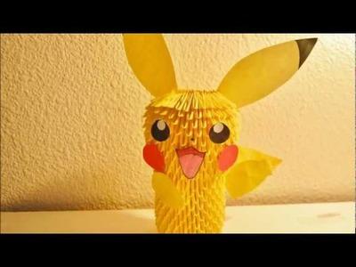 Pikachu 3D Origami Tutorial