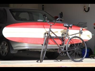 PROJECT: - 'Malibu Ride'  - DIY Surfboard Bike Rack