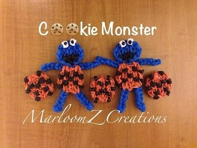 Rainbow Loom Cookie Monster: How To - Charm Figure