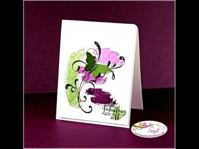 Work Of Art Stampin Up In-Color Card