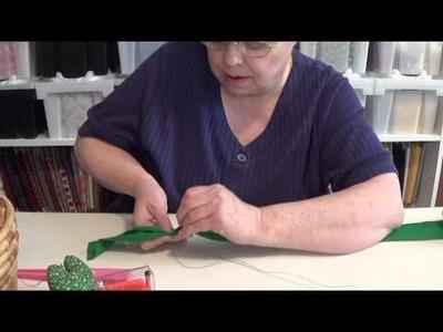Braided rug part 2 stitching the yarn
