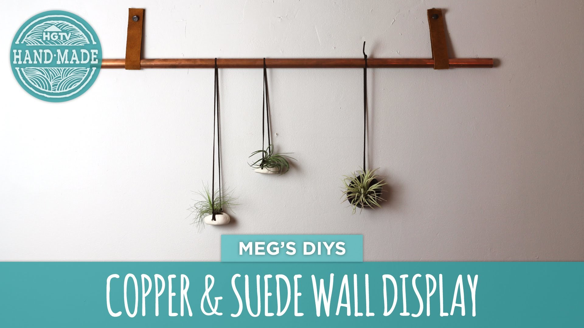 Copper & Suede Wall Display - HGTV Handmade