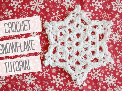 CROCHET: How to crochet a snowflake | Bella Coco