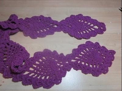 Crochet Sciarpa all'uncinetto ananas