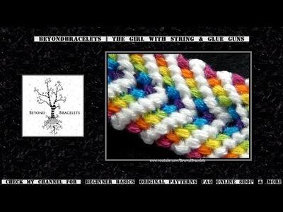 ► Friendship Bracelet Tutorial - Intermediate - Rainbow Chevron