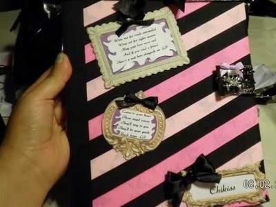Grav3yardGirl Back to School Contest Entry.DIY Notebook Decoration