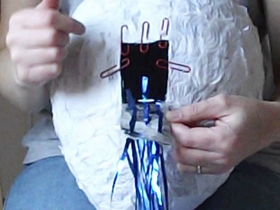 How to make a pull string pinata from a plaster of paris modroc or paper mache cast