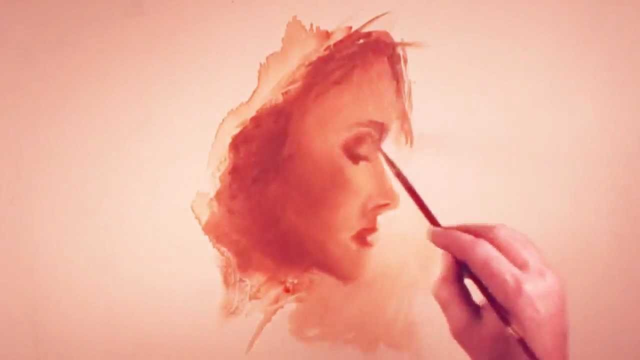How to paint a woman's face in profile