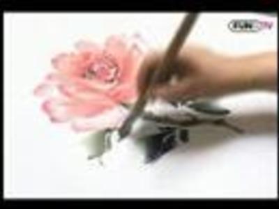 Korean Traditional Painting - rose