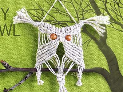 Make Easy Macrame Owl - Wall Hanger Tutorial