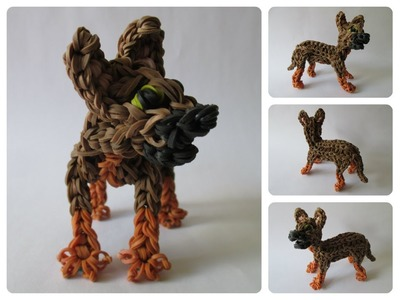 Rainbow Loom german shepherd - CHASE puppy Part 2.2 Loombicious