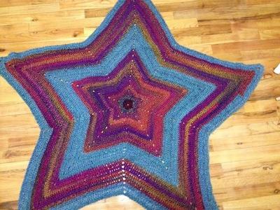 Super star Afghan. Blanket Crochet Tamil