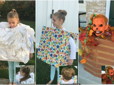 3 DIY Halloween Costumes & Hairstyles - Head in the Clouds, Present, Jack-o-Lantern