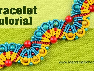 Amazing Peacock Tail Bracelet - Macramé Tutorial