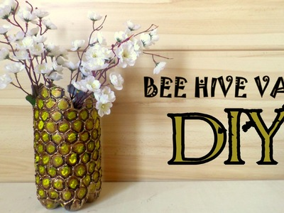 Beehive  Design Vase- DIY- Recycling Project | by Fluffy Hedgehog