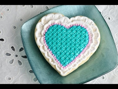 BRUSHED EMBROIDERY LACE HEART COOKIES, HANIELA'S