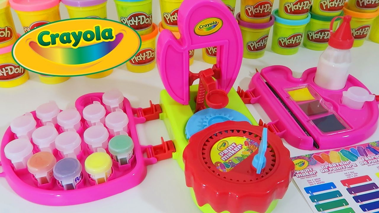 Crayola Paint Maker PINK Edition Play Kit | Easy DIY Make Your Own Paint & Art Playset!
