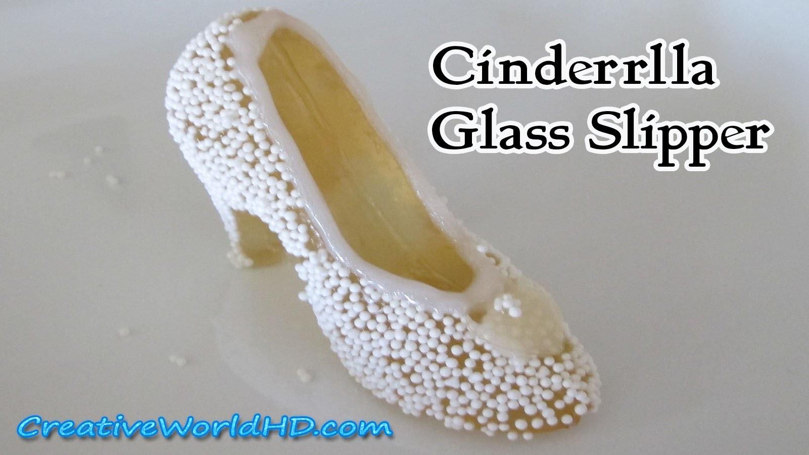 DIY Cinderella Glass Slipper.Shoe - Geltain.Jello.Jelly Mix - How to Tutorial