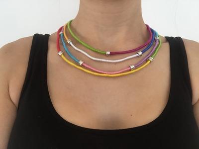 DIY Craft Cord Necklace