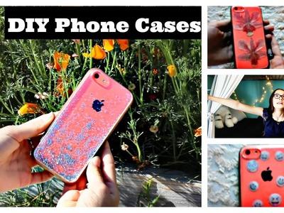 DIY Easy Phone Cases | Emoji, Glitter, Pressed Flowers | Make it Fancy | Fiona Frills