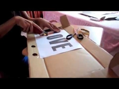 DIY: how to make a standing block letters