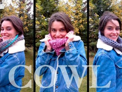 Easy Crochet Cowl Infinity Scarf Pattern