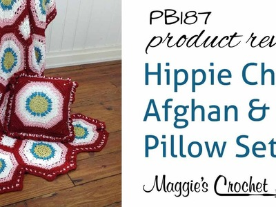 Hippie Chic Afghan and Pillow Set Crochet Pattern Product Review PB187