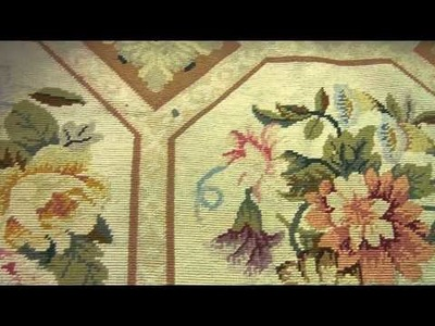 How to clean Handmade Needlepoint Carpet Amazing Piece Work