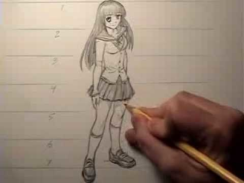 How to Draw a Female Body, Manga Style: Proportions