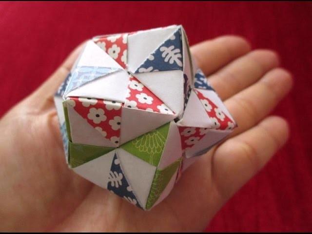 How to make a 24-tetrahedral unit origami TRIANGLE EDGE - Modular Origami -