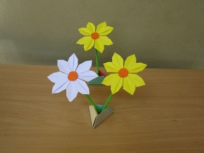 How to make a Beautiful Paper Daisy Flower - Easy Tutorials