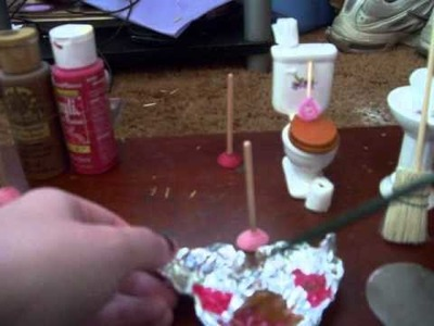How To Make A Miniature Dollhouse Plunger