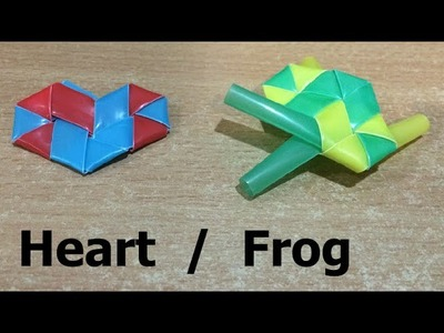 How to Make a Straw Heart. Frog