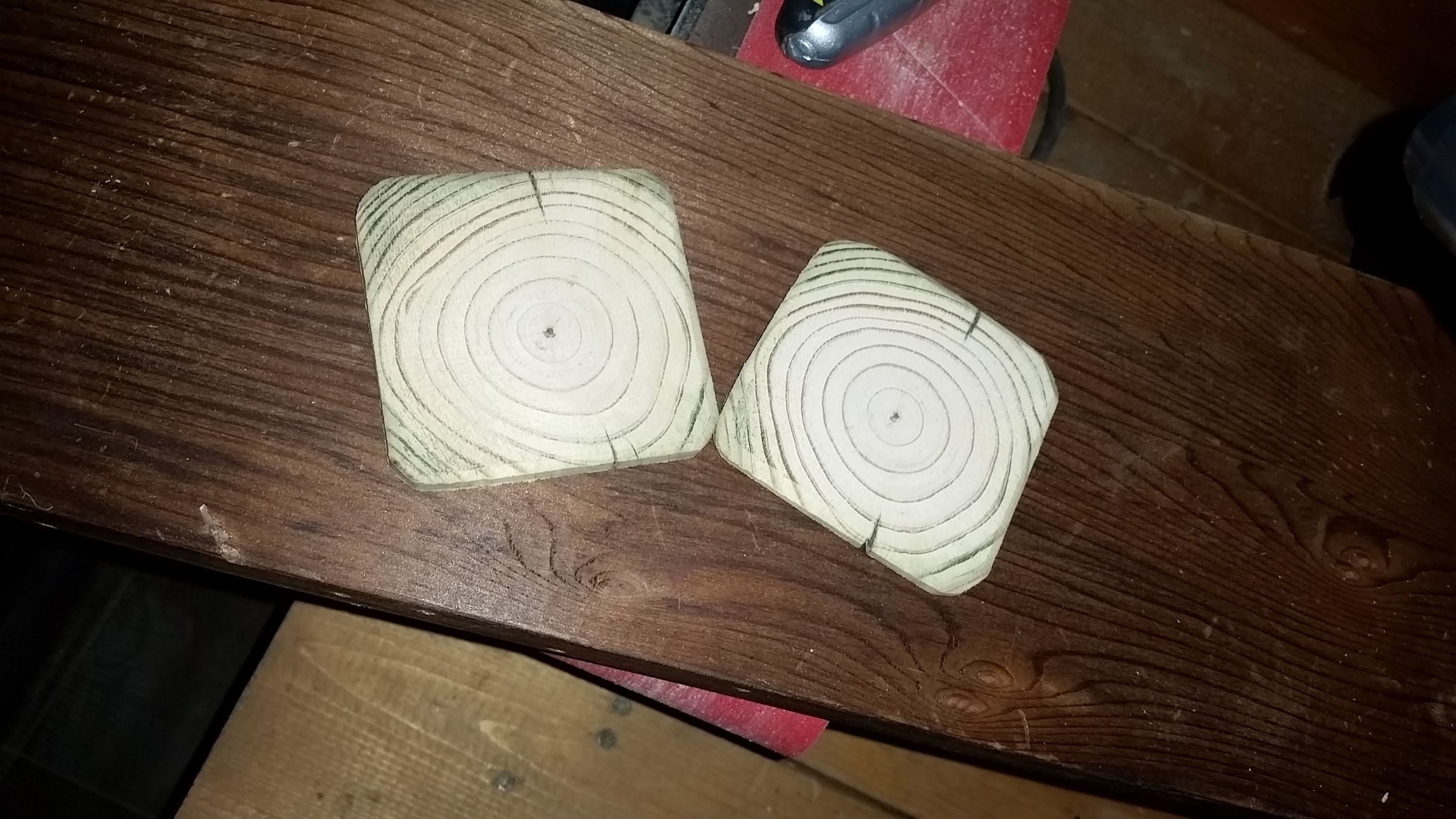 How to make easy wooden coasters!