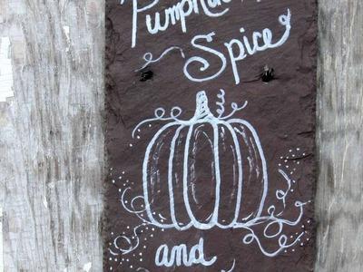 How To Paint A Festive Fall Pumpkin Slate - DIY Home Tutorial - Guidecentral