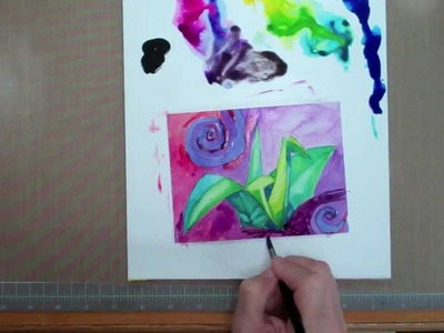 How to Paint a Watercolor Crane with Splash Ink