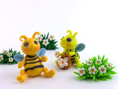 LET'S CLAY! Bee tutorial - pszczólka z modeliny