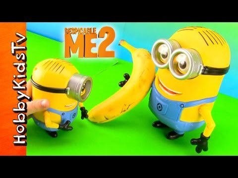 Minion Dave Banana Battle with Stuart! HobbyKid Story Despicable ME Angry Bird Bad Piggie