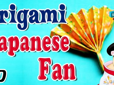 Origami - How To Make JAPANESE FAN - Simple Tutorials In English
