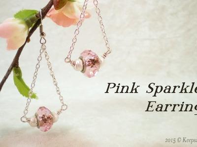 PInk Sparkles Earrings Tutorial