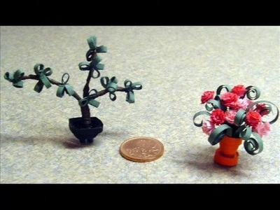 Quilled Miniature Plants and Dangerous Confections