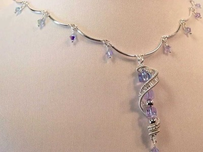 The Chameleon, Color Changing Wire Wrapped Necklace