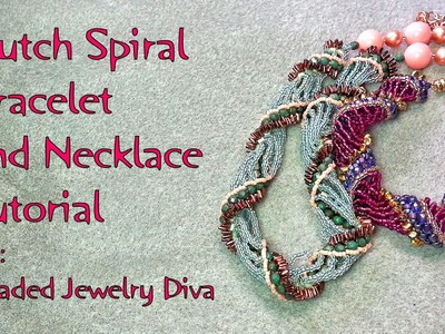 Dutch Spiral Bracelet and Necklace with Super Uno Beads - Dutch Spiral Tutorial