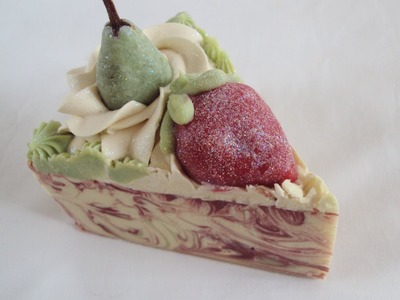 How i made my handmade Pears for Pearberry Soap cake
