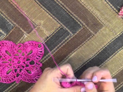 How to Crochet Square and Triangle Motifs and Join As You Go