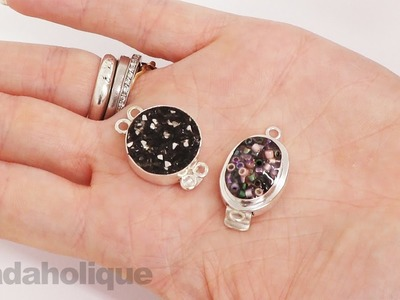 How to Customize Bezel Clasps with Lisa Pavelka Magic-Glos UV Resin