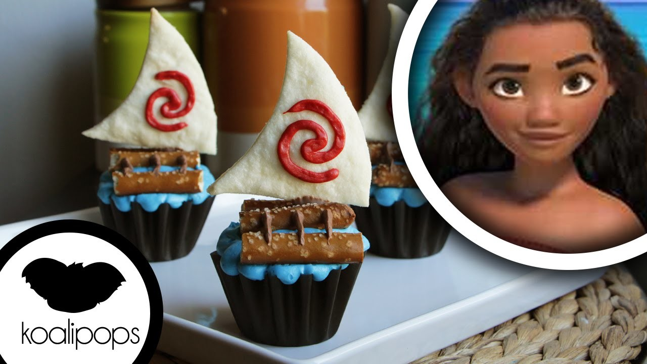 How to make Disneys Princess Moana: Cupcakes
